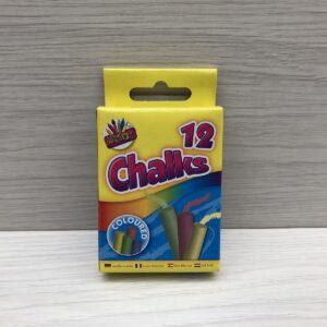 Coloured Pavement Chalks (12)