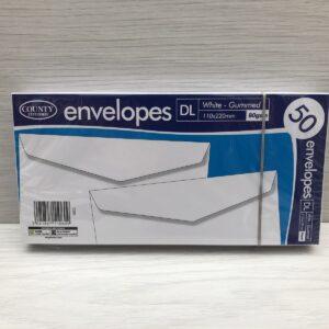 DL White Gummed Envelopes