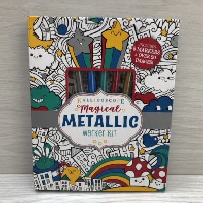 Kaleidoscope Colouring: Metallic Marker Kit