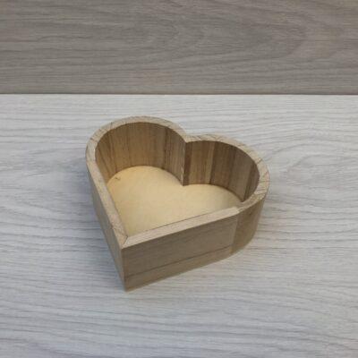 Wooden Heart Tray (S)