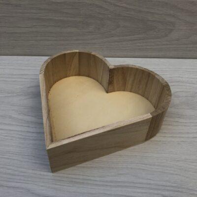 Wooden Heart Tray (M)