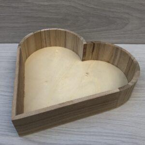 Wooden Heart Tray (L)
