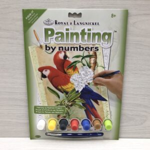 Paint by Numbers: Bamboo Parrots