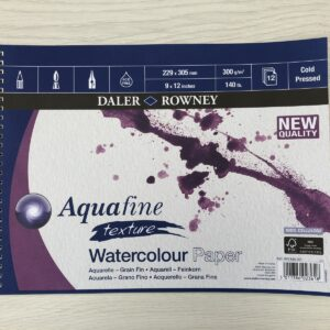 Daler Rowney: Aquafine Texture Watercolour Paper (9″ x 12″) (Spiral-Bound)