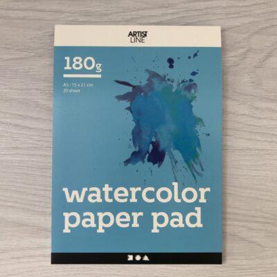 Artist Line: Watercolour Paper Block Pad (A5)