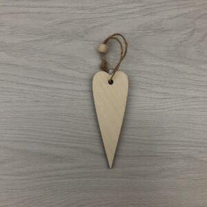 Small Long Wooden Heart Shape