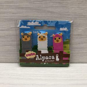 Cute Alpaca Erasers