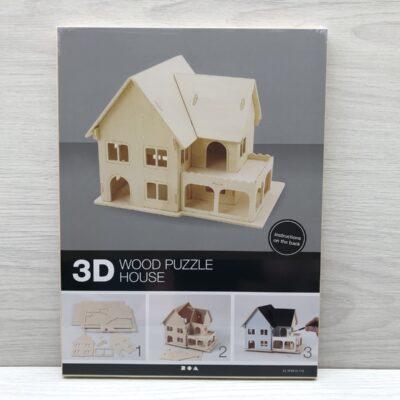Wood Construction Kit: House With Veranda