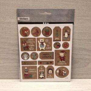 Stickers: Kraft Christmas