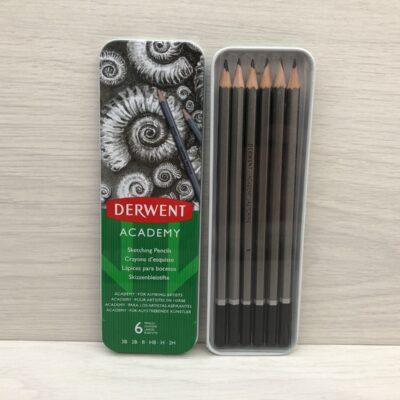 Derwent Academy: Sketching Pencils (6 Pack)