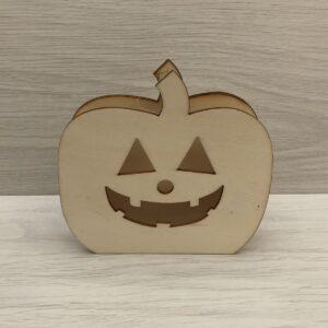 Wooden Pumpkin Head