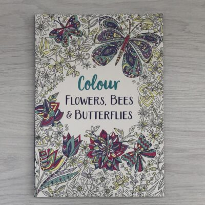Colour Flowers, Bees and Butterflies