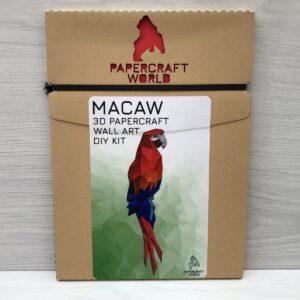 Papercraft World: 3D Model DIY Kit (Macaw)
